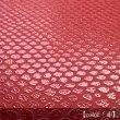 画像2: 革のような紙のブックカバー 【ヘビ】 赤 (新書判サイズ) (2)