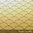 画像1: 印傳のような紙【青海波】にぶ黄 (1)