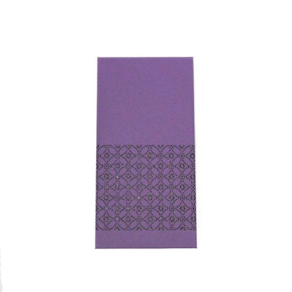 画像1: 印傳のような紙のお祝い袋【七宝】藤紫 (1)