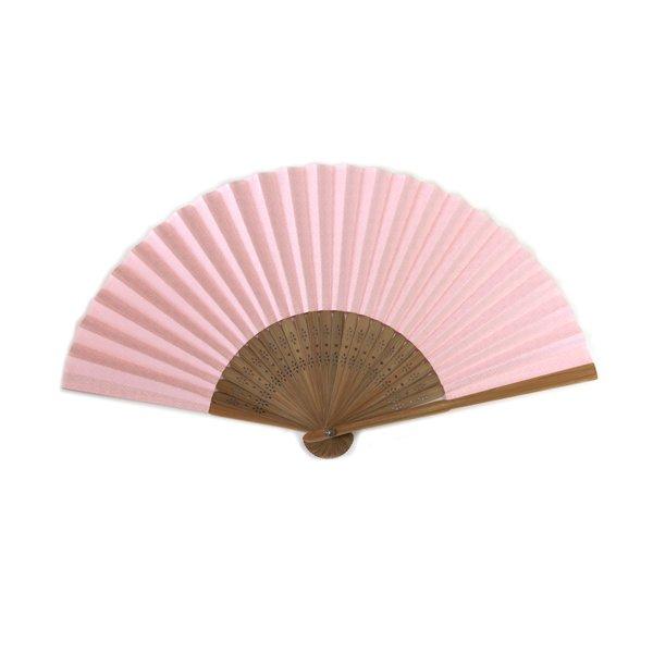 画像1: 印傳のような紙の扇子【七宝】ばら (1)